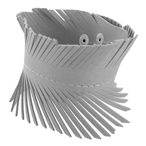 Wholesale faux leather cuff bracelet feather detail