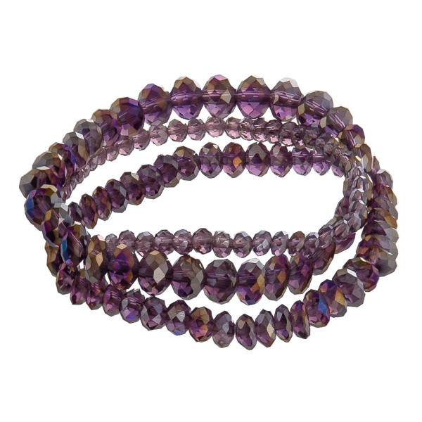"Multi strand beaded bracelet. Approximate 6"" in length."
