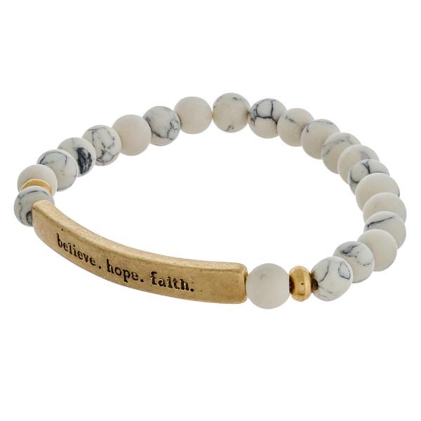 Wholesale inspirational Semi Precious Beaded Stretch Bracelet Diameter