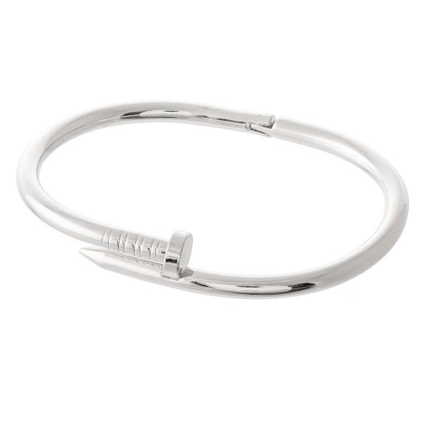 Wholesale hinge Nail Bangle Bracelet diameter Fits up wrist