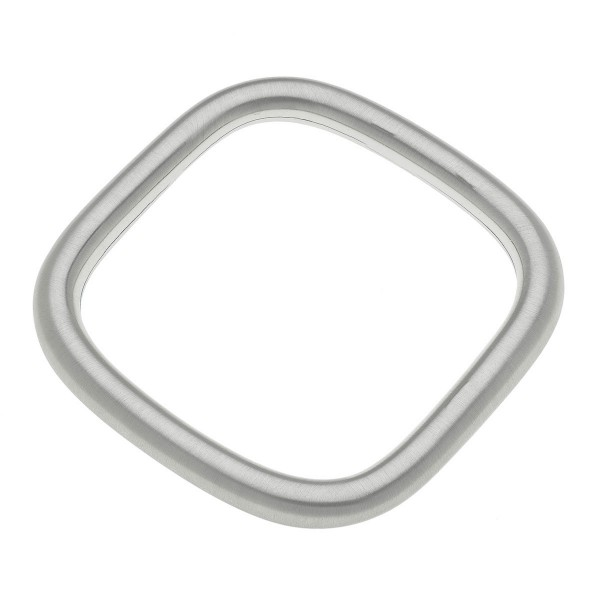 "Satin Silver square bangle bracelet.  - Approximately 3""   - Fits up to a 6"" wrist"
