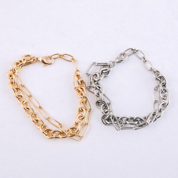 "Hera link cable chain link bracelet.  - Lobster clasp - Adjustable 1"" extender - Approximately 3"" in diameter - Fits up to an 8"" extender"
