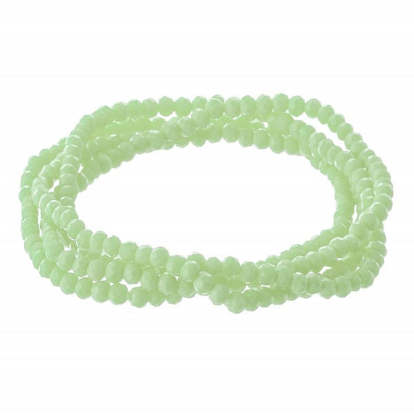 Wholesale dainty faceted beaded stretch bracelet set pcs set diameter unstretche