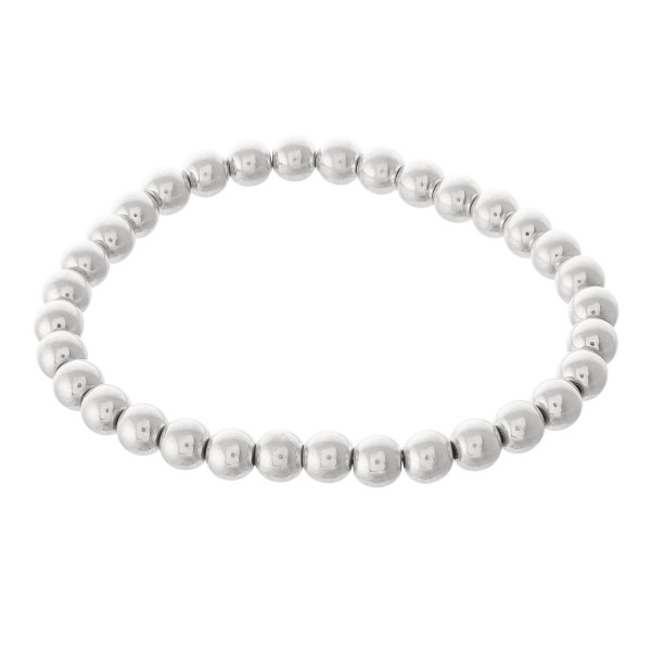 "Ball Beaded Stretch Bracelet.  - Approximately 3"" in diameter - Fits up to a 7"" wrist - Bead 5mm"