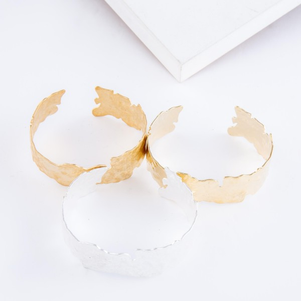 """Nugget Cut Cuff Bracelet.  - Approximately 2.25"""" in diameter - Fits up to a 5"""" wrist"""