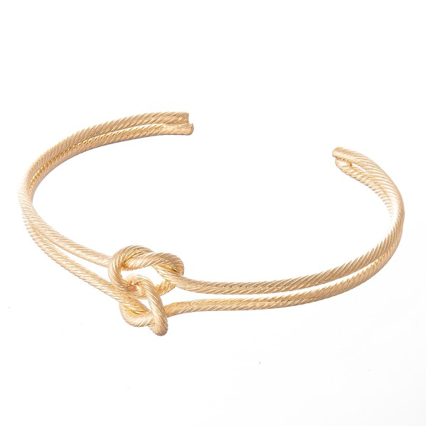 "Brass Love Knot Cuff Bracelet.  - Approximately 2.5"" in Diameter - Fits up to a 5"" wrist"