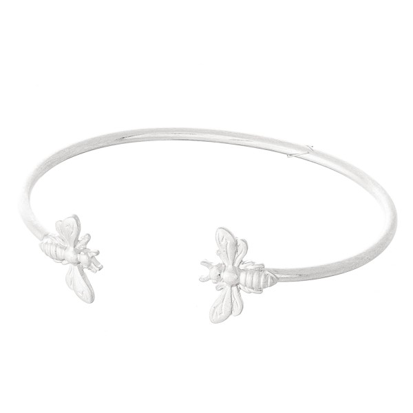 """Designer Inspired Open Ended Bee Cuff Bracelet.  - Approximately 2.5"""" in Diameter  - Fits up to a 5"""" wrist"""