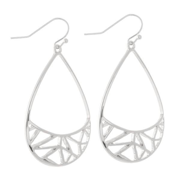 """Brass Filigree Teardrop Earrings.  - Approximately 2"""" L"""