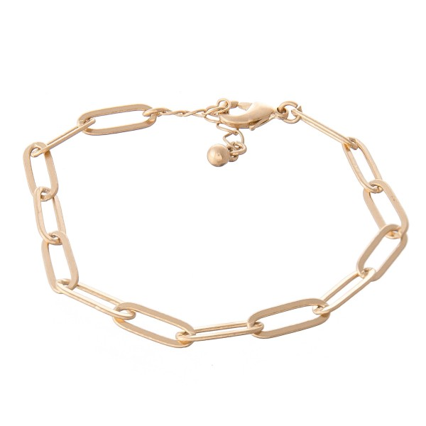 "Hera Chain Link Bracelet.  - Approximately 3"" in diameter - Fits up to a 7"" wrist - 1"" Adjustable Extender"