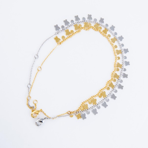 """Dainty Curb Chain Anklet Featuring Butterfly Dangle Accents.  - Approximately 4"""" in diameter - Adjustable 2"""" Extender - Fits up to an 8"""" ankle"""