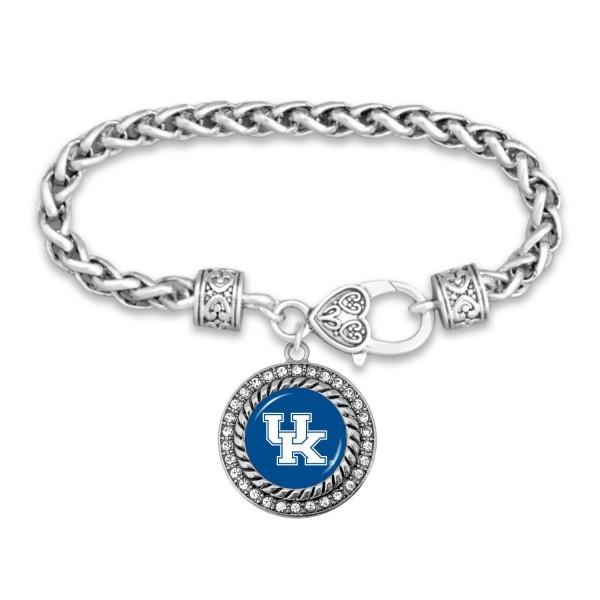 Wholesale kentucky Game Day Bracelet Rhinestone Accents Rope Chain Bracelet Rhin