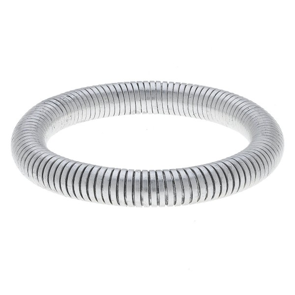 "Tube Bangle Bracelet in Worn Silver.  - Bangle Thickness 9mm - Approximately 3"" in Diameter - Fits up to a 7"" Wrist"