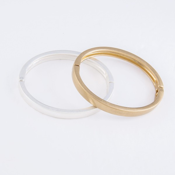 """Metal Hinge Bangle Bracelet.  - Approximately 2.5"""" in Diameter - Fits up to a 5"""" Wrist"""