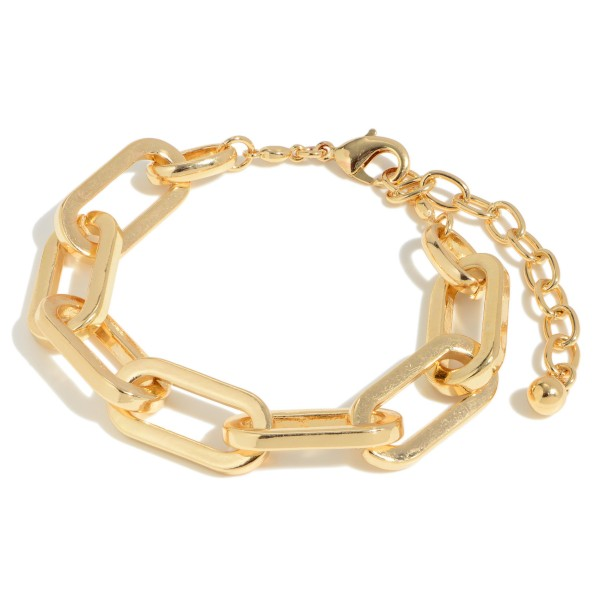 """Chain Link Statement Bracelet.  - Approximately 3"""" in Diameter  - 3"""" Adjustable Clasp"""