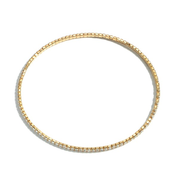 "Single Strand Rhinestone Stretch Anklet.  - Approximately 4"" in Diameter"