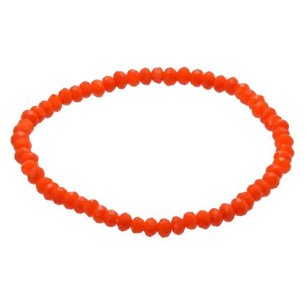 "Dainty Beaded Stretch Bracelet.  - 3mm Bead Size - Approximately 3"" in Diameter"
