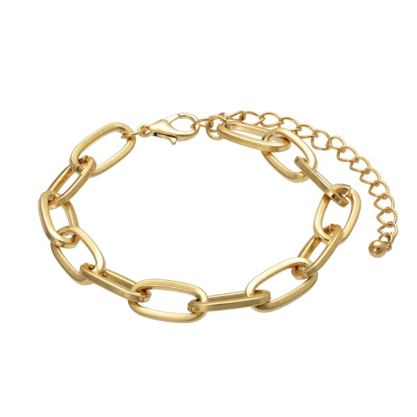 Wholesale oval Chain Link Bracelet Diameter Adjustable Extender