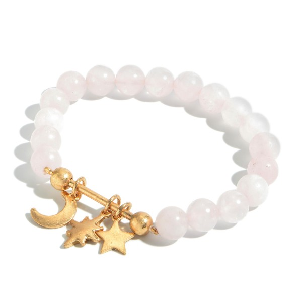 Wholesale beaded Boho Charm Bar Stretch Bracelet Charms Include Star Moon North
