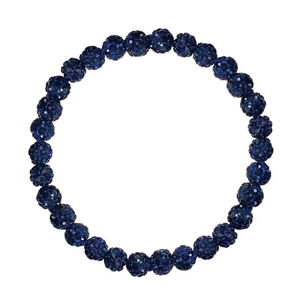 "Beaded Shamballa Stretch Bracelet.   - Approximately 2.5"" in Diameter"