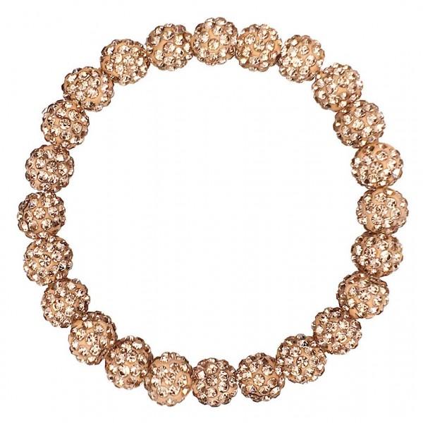 "Shamballa Beaded Stretch Bracelet.   - Beads Approximately 8mm in Diameter  - Bracelet Approximately 2.5"" in Diameter"