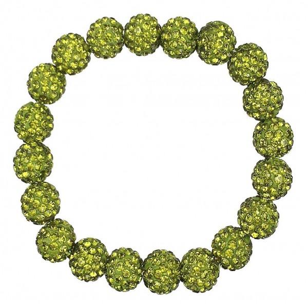 "Shamballa Beaded Stretch Bracelet.   - Beads Approximately 10mm in Diameter  - Bracelet Approximately 2.5"" in Diameter"
