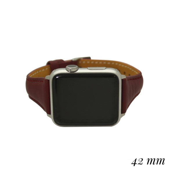 """Interchangeable Faux Leather Smart Watch Band for Smart Watches Only.  - Fits 42mm Watch Face - Band Width: .5"""" - Approximately 3"""" in Diameter - Adjustable Band"""
