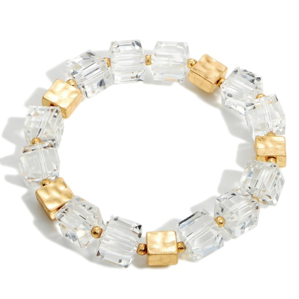 """Beaded Stretch Bracelets Featuring Gold Accents.   - Approximately 3"""" in Diameter"""