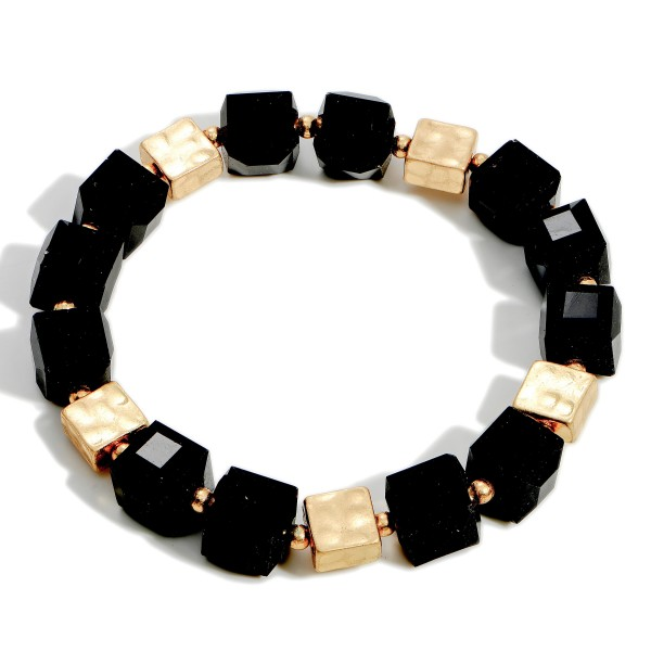 Wholesale beaded Stretch Bracelets Gold Accents Diameter