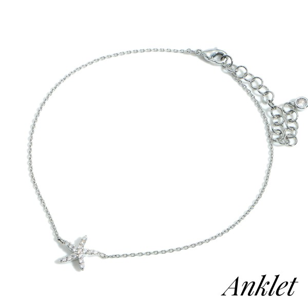 """Gold Dipped Anklet Featuring Starfish Accent.   - Approximately 3.5"""" in Diameter with 2"""" Extender"""