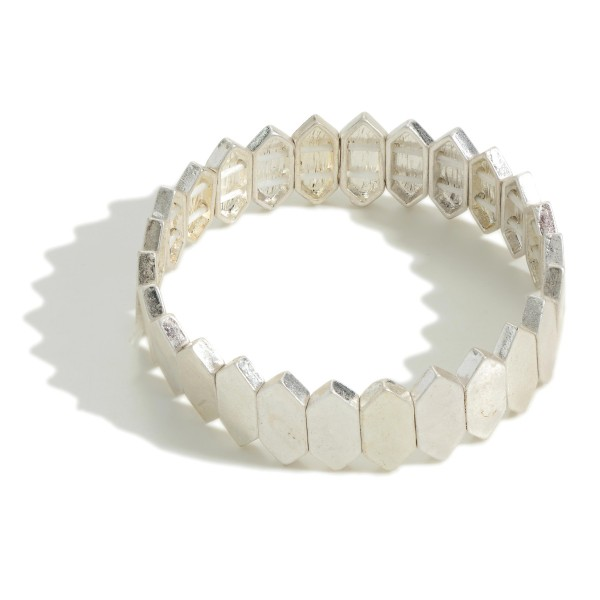 "Metal Tone Stretch Bracelet  - Approximately 2.5"" Diameter"