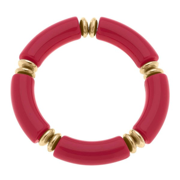"""Resin Bracelet Featuring Gold  Beads.   - Approximately 3"""" in Diameter"""