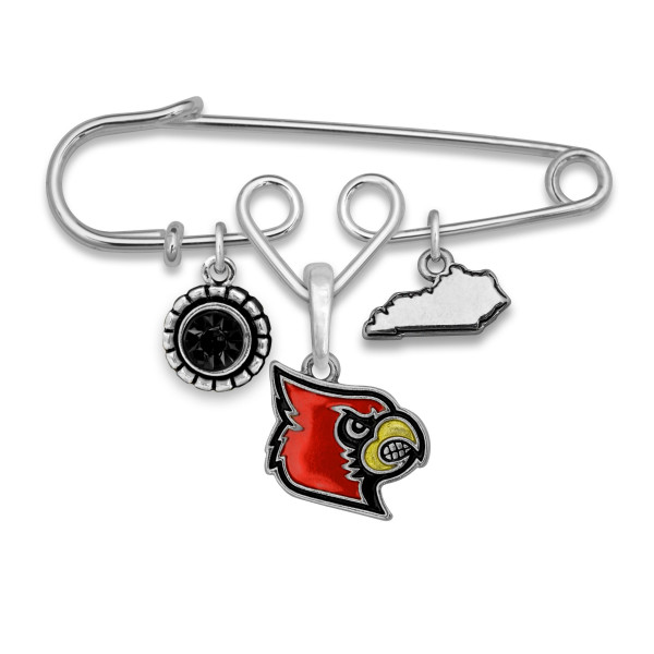 """Officially licensed metal pin with university logo. Approximately 2.5"""" in length."""