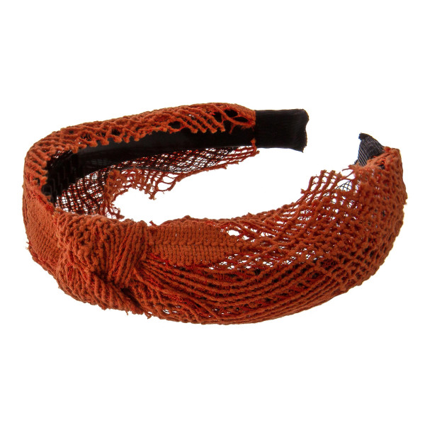 Do everything in Love brand knotted lace headband.  - One size fits most adults - 100% Polyester