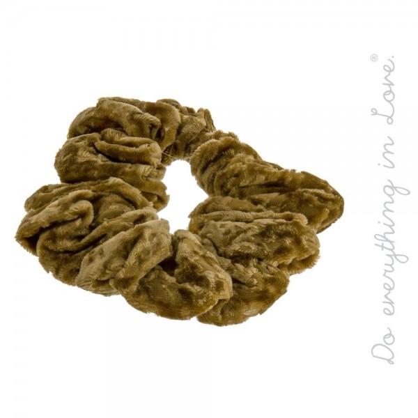 Wholesale do everything Love Brand Velvet Hair Scrunchie One Polyester