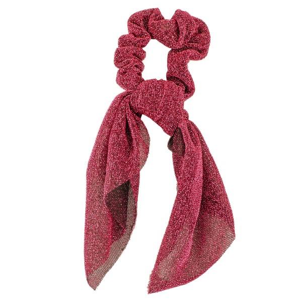 Wholesale metallic mesh hair scarf scrunchie One L Polyester