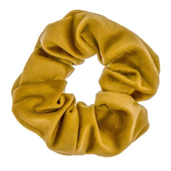 Solid color velvet hair scrunchie.  - One size - 100% Polyester