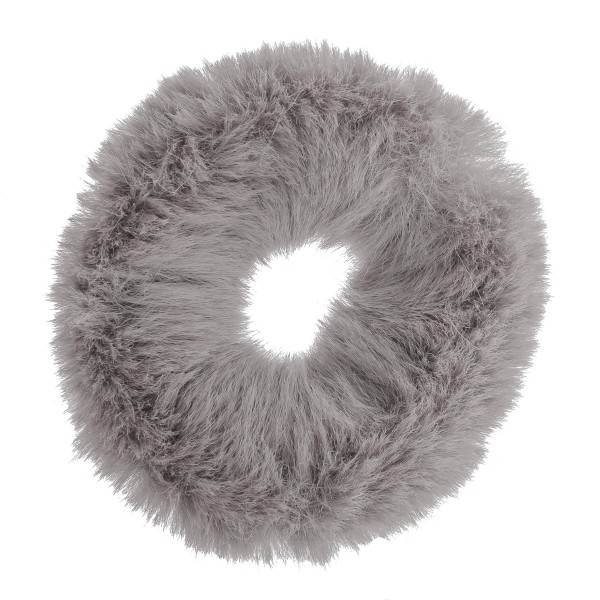 Wholesale solid faux fur ponytail holder scrunchie One Polyester