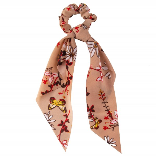 Wholesale butterfly floral hair scarf scrunchie One Polyester