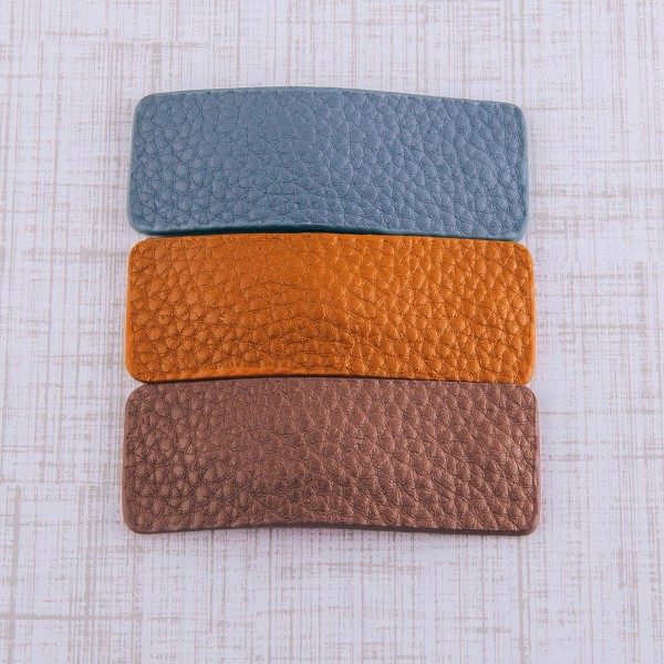 """Faux leather hair clip set of two.  - 2 pcs/pack - Approximately 2.5"""" in length"""