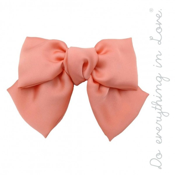 """Do everything in Love brand solid silky oversized hair bow barrette.  - One size - Approximately 6"""" W x 5"""" L - 100% Polyester"""