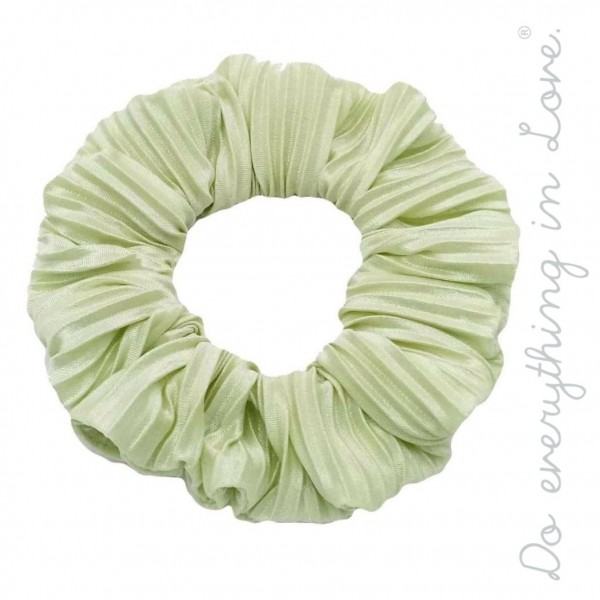Do everything in Love brand solid pleated hair scrunchie.  - One size - 100% Polyester