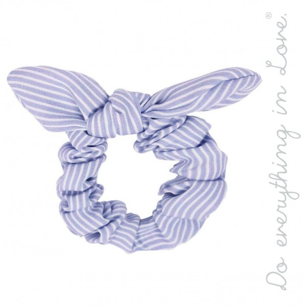 Do everything in Love brand striped bow hair scrunchie.  - One size - 100% Polyester
