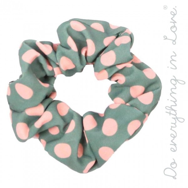 Do everything in Love brand polka dot scrunchie.  - One size  - 100% Polyester
