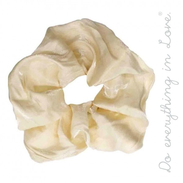 Do everything in Love brand shimmered oversized hair scrunchie.  - One size - 100% Polyester