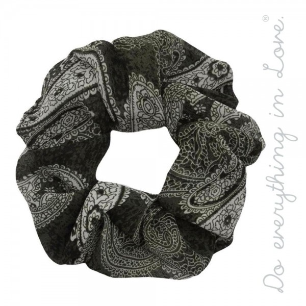 Do everything in Love brand paisley print hair scrunchie.  - One size - 100% Polyester