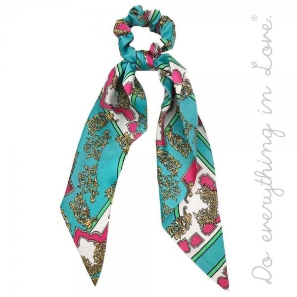 Wholesale do everything Love brand designer print inspired hair scarf scrunchie