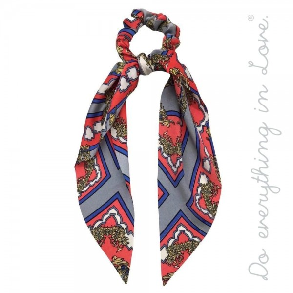 Wholesale do everything Love brand designer print inspired hair scarf scrunchie