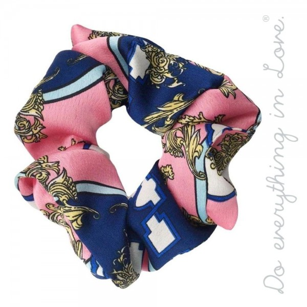 Do everything in Love brand designer print inspired hair scrunchie.  - One size - 100% Polyester