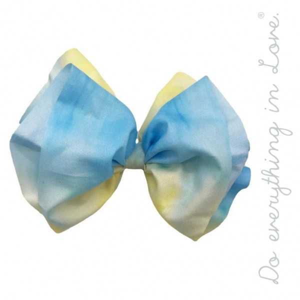 "Do everything in Love brand tie-dye hair bow barrette.  - One size - Approximately 6"" W x 5"" L - 100% Polyester"