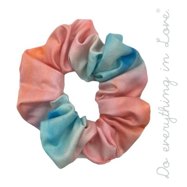 Wholesale do everything Love brand tie dye hair scrunchie One Polyester